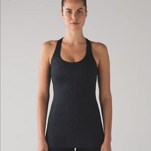 Lululemon Black Cool Racerback Tank In snake print